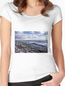 Shoreline on Lake Ontario - Amherst Island, Ontario - 2 Women's Fitted Scoop T-Shirt