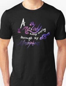 Death Cab For Cutie - Soul Meets Body - A Melody Softly Soaring Through My Atmosphere - Galaxy T-Shirt