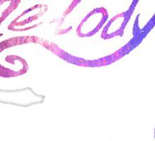 Death Cab For Cutie - Soul Meets Body - A Melody Softly Soaring Through My Atmosphere - Galaxy Sticker