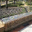 Seville 1920s bench at the old Expo site by oscars
