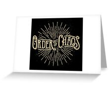 Order out of Chaos Greeting Card