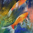 Two Koi Fish by Michael Creese
