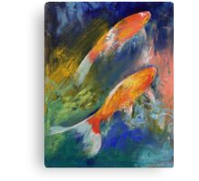Two Koi Fish Canvas Print