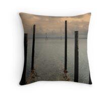 Boat Slipway Throw Pillow