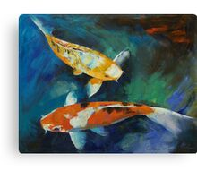 Sanke Koi Painting Canvas Print