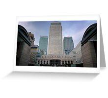 Citibank/HSBC/Barclays at Canary Wharf, London  Greeting Card