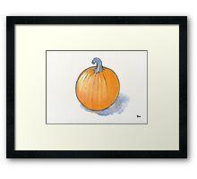 Pumpkin Study Framed Print