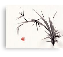 """Horizon""  original ink and wash bamboo sumi-e painting Canvas Print"