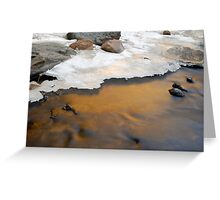 Bear Creek Reflection Greeting Card
