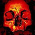 bloody skull by Lildudette016