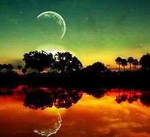sunset reflection by Lildudette016
