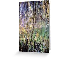 Blue Green Willow Water Greeting Card