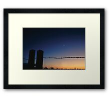 Fence and Farmland - Minnesota Framed Print
