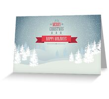 Snowy Mountains - Merry Christmas and Happy Holidays Greeting Card