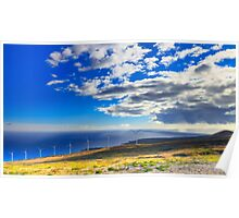 Windmills, Coast & Clouds Poster