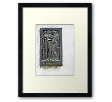Querido Paco, Memorial Plaque from the Recoleta Cemetery Framed Print