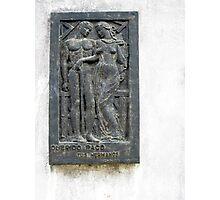 Querido Paco, Memorial Plaque from the Recoleta Cemetery Photographic Print