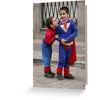 Super heroes!. Greeting Card