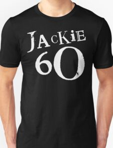 Jackie 60 Classic White Logo on Black Gear T-Shirt