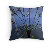 Blue Grasses Throw Pillow