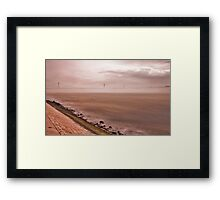 the sky kissed the river in the morning.... Framed Print