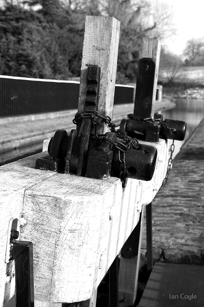 Union Canal Sluice gate by Ian Coyle