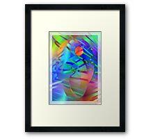 Coloured stripes Framed Print