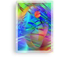 Coloured stripes Canvas Print