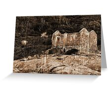 Lighthouse Keepers Cottage Textured Greeting Card