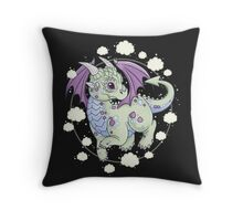 Dragon in the Clouds Throw Pillow