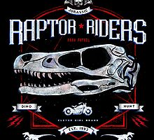 Jurassic World Raptor Riders Biker Insignia by barrettbiggers