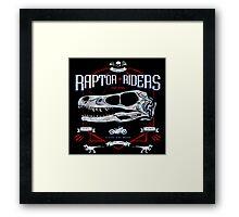 Jurassic World Raptor Riders Biker Insignia Framed Print