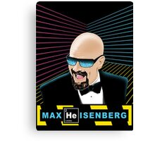 Heisenberg / Max Headroom Mashup Canvas Print