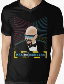 Heisenberg / Max Headroom Mashup Mens V-Neck T-Shirt