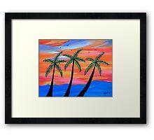 """Sunset Palms"" Framed Print"