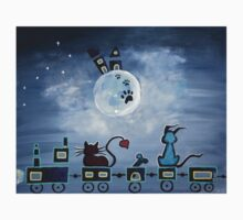 Picken Midnight Train To The Moon - For Children Paintings by Valentina Miletic Kids Tee