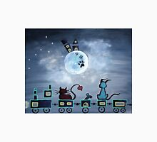 Picken Midnight Train To The Moon - For Children Paintings by Valentina Miletic Unisex T-Shirt