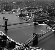 Brooklyn and Manhattan Bridges by Mark Van Scyoc