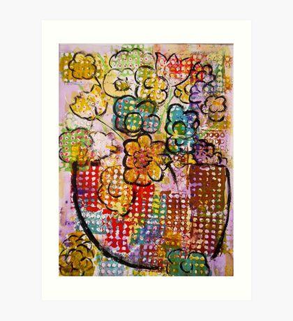 floppy flowers Art Print