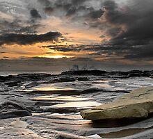 Morning Splash, Needles Eye, Northumberland by Ben Smith