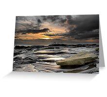 Morning Splash, Needles Eye, Northumberland Greeting Card