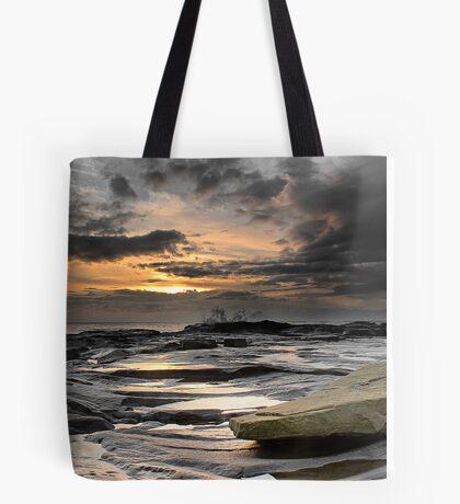 Morning Splash, Needles Eye, Northumberland Tote Bag