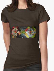 Light art geometric design Womens Fitted T-Shirt