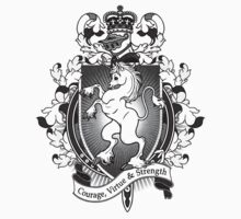 Unicorn Coat Of Arms Heraldry Kids Clothes