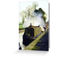 Winter Morning at Mere, Cheshire Greeting Card