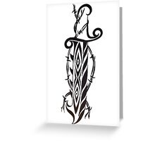 wire dagger Greeting Card