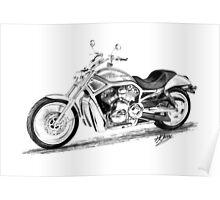 Harley Davidson VRod Poster