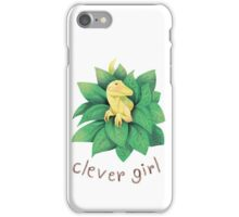 Raptor , clever girl iPhone Case/Skin