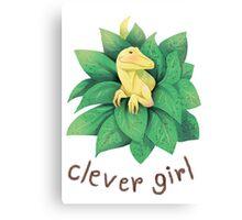 Raptor , clever girl Canvas Print