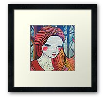 Little Red modern red portrait Framed Print